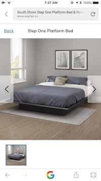 Gray Oak wooden brand new bed frame  Toronto, M5A 4G6