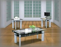 Glass 3pc Coffee Table Brand New Hyattsville