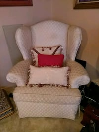 white and brown fabric sofa chair Tampa, 33610