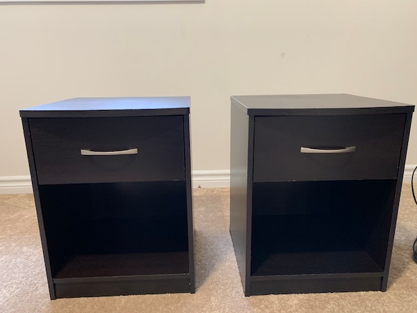 2 Black Night Stands-great condition