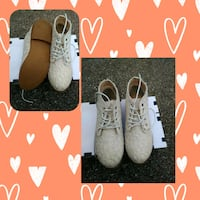 White lace shoes girls size 3 Houston, 77096