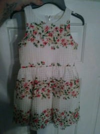 white, pink, and green floral sleeveless dress New Market, 37820