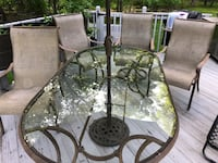 Glass Patio Table and chair's