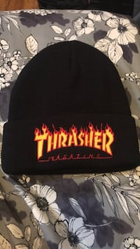 Black and red thrasher knit cap Toronto, M6N 1A7
