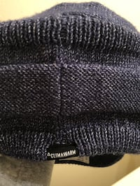 black and gray knit textile