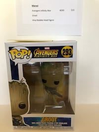 Pop! Marvel Avengers 293 Groot vinyl figure with box Manassas, 20110