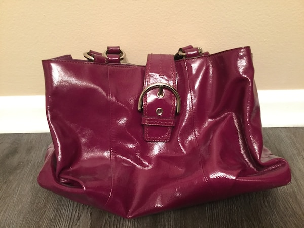 a4fee76ee18 Authentic purple coach patent leather purse