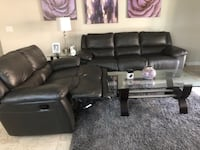 Charcoal Sofa and Loveseat recliners Las Vegas, 89147