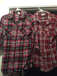 2 for $10 plaid button up shirts, Size M Rialto, 92377