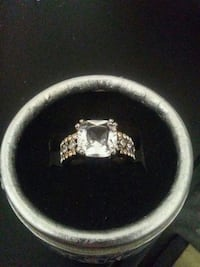 Size 7 Solid S925 Natural White Sapphire Ring 3149 km