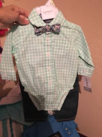 Green and white plaid dress shirt Brownsville, 78526
