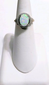 White Opal Sterling Silver Ring Beverly Hills, 34465