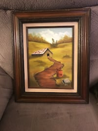 Beautiful Framed Canvas Barn Painting  Mount Holly, 28120