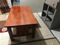 rectangular brown wooden table with two chairs Edmonton