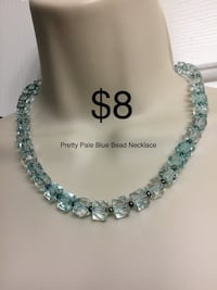Pretty Blue Bead Necklace