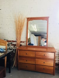 brown wooden dresser with mirror Ontario, K8V 1Z5