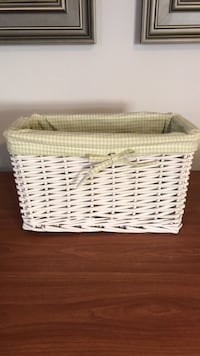 rectangular white wicker basket Toms River, 08753
