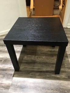 Two Black side tables