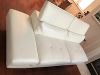 white leather 2-seat sofa Falls Church, 22043