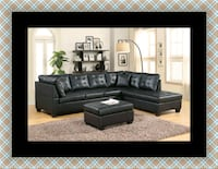 Black sectional with ottoman Temple Hills