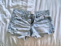 Women's blue denim short shorts XS Montréal, H3B