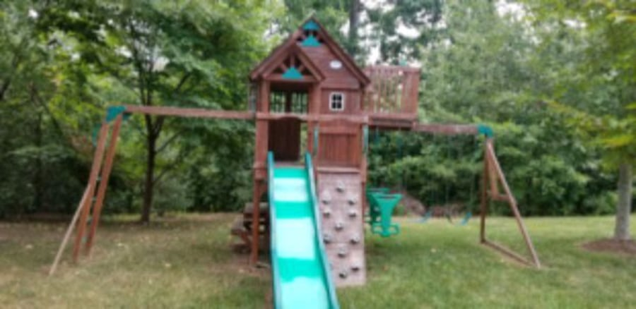 Leisure Time Playset/ Swing Set with sliding board d740886d-8cd8-47aa-8a0a-ae25e5c83728