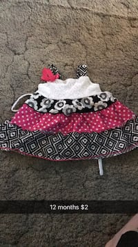 white, black, and red floral skirt Janesville, 53548
