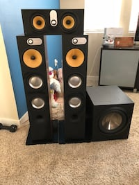 Bowers and Wilkins speaker set plus subwoofer