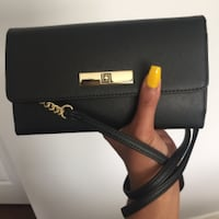 black and red leather Michael Kors crossbody bag Surrey