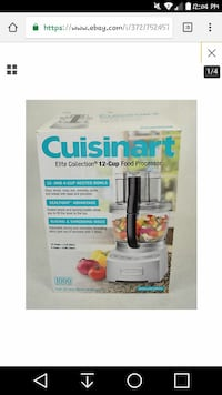 gray Cuisinart elite collection 12-cup food processor box
