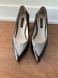 SENSO, Leather and Wool Block Heels, Grey, Size 36 / 6, lightly worn. Toronto, M4Y 1T1