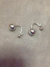 Pair of silver-colored earrings New Rochelle, 10801