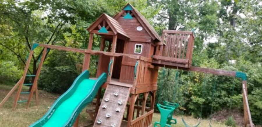 Leisure Time Playset/ Swing Set with sliding board 3
