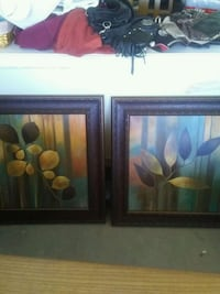 two brown wooden framed painting of flowers Henderson, 89015