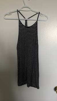 black and gray spaghetti strap top Toronto
