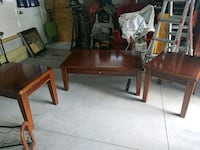 Cherry coffee and end table set.  Midlothian, 23112