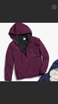 New W/ Tags VS PINK Sherpa maroon anorak jacket M/L Minneapolis, 55410