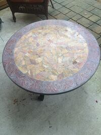 Stone mosaic table. Paid close to $600 asking $200 obo