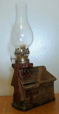 Vintage House Shaped Oil Lamp