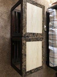 Two marble side tables Bakersfield, 93311