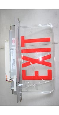 Exit sign with back up battery and emergency back up light Houston, 77018