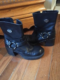Genuine Women's Harley Davidson Black Leather Boots Loveland, 45140