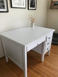 white wooden single-pedestal desk Vancouver, V5L 1V6