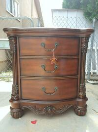 brown wooden 3-drawer chest Los Angeles, 91304
