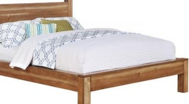 New Cal King Platform Wood Bed Frame