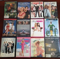 assorted new and used DVD movies