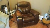 Large comfy leather chair
