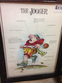 Gary the Jogger Poster in frame $100 New Westminster, V3M