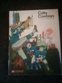 Colts vs Cowboys program from game. 1967 Baltimore, 21225