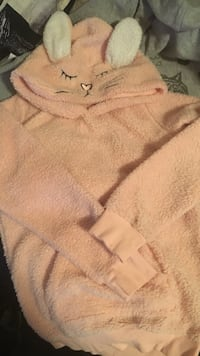 Toddler's orange rabbit themed pullover hoodie Grande Prairie